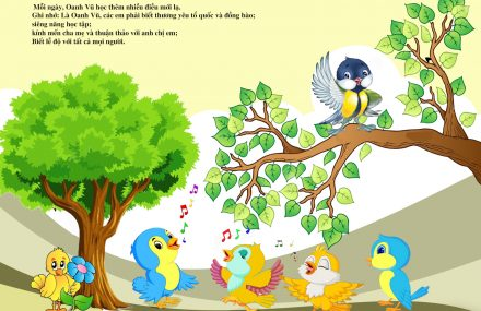 Tranh tô màu – Câu chuyện Chim Oanh Vũ 3 – Lương Hoàng Chuẩn