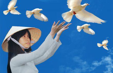 Nhạc Phật giáo karaoke 592 – Áo Lam ơi! Đứng lên một lòng – Quảng Dũng